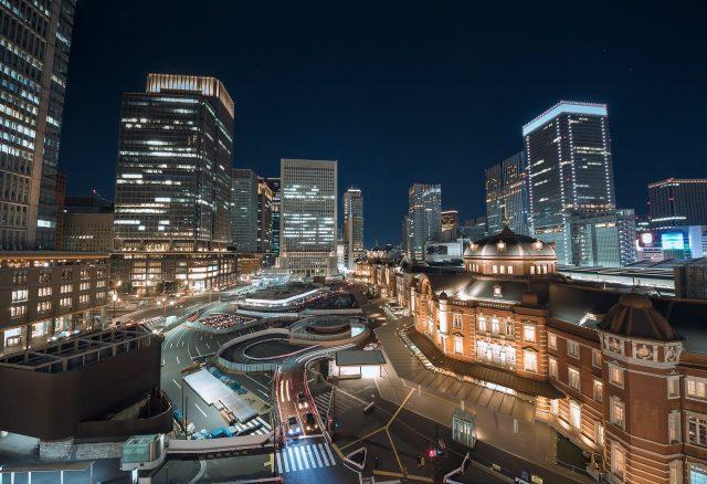 オフィスと商業施設の複合開発の三菱地所設計