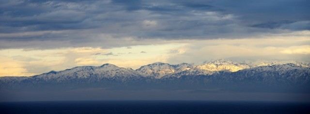 氷見から望む立山連峰